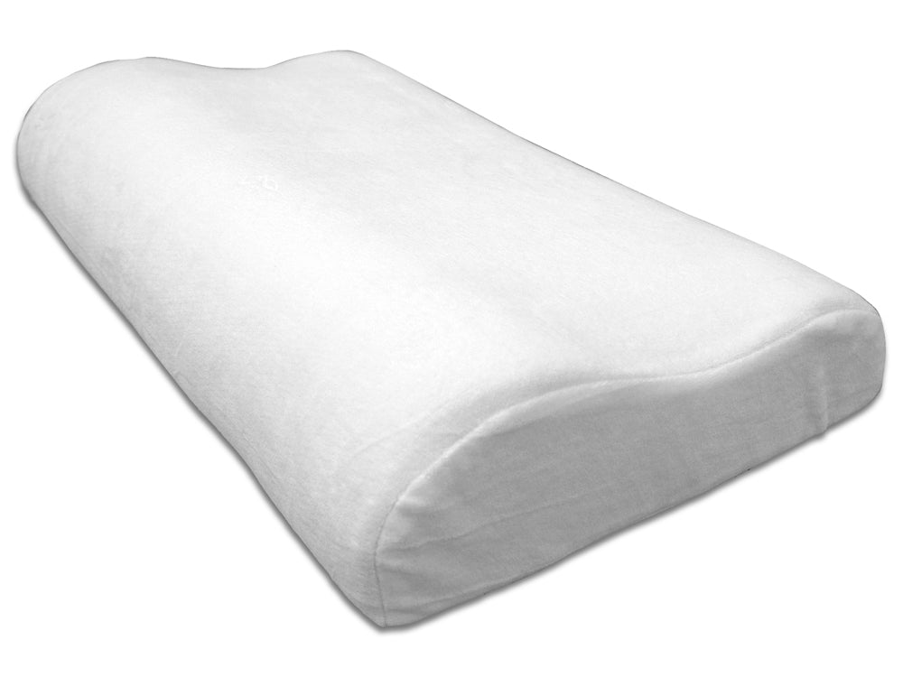 Feather Light Contour Pillow, with washable zip-cover