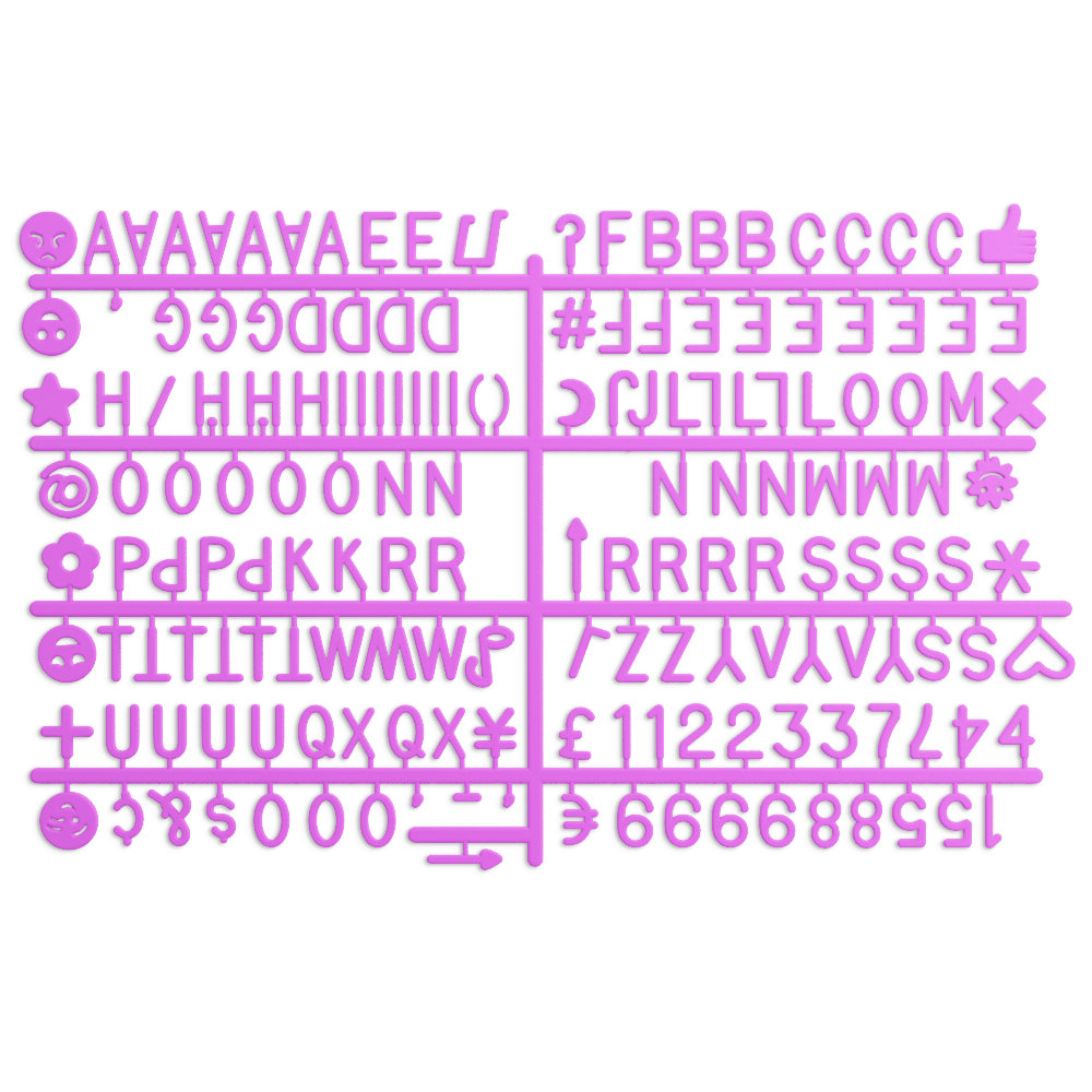 Letters - Hot Pink (3/4 Inch) – letterlylove