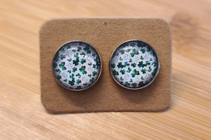 Mini Shamrocks - 12mm druzy earrings