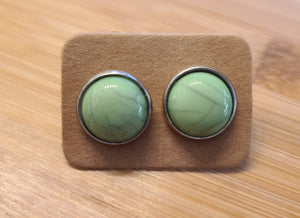 Irish Marble - 12mm druzy earrings