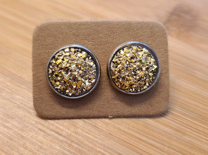 Chunky Gold - 12mm druzy earrings