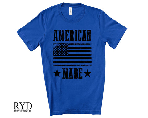 102 - American Made BLACK Screen Print Transfer