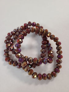 B145 Sparkle Stack Strand - Raisin