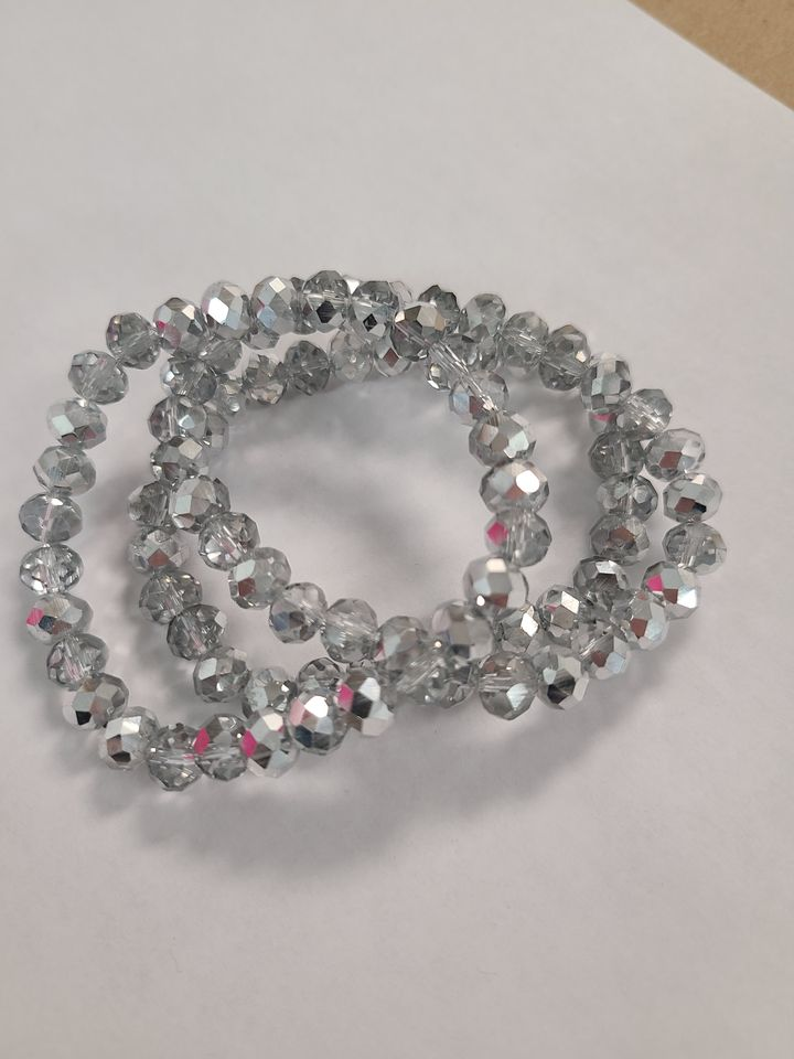 B147 Sparkle Stack Strand - Chrome