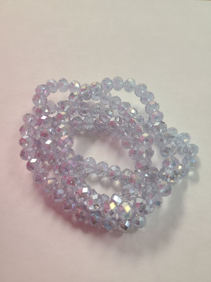 B146 Sparkle Stack Strand - Periwinkle Ice