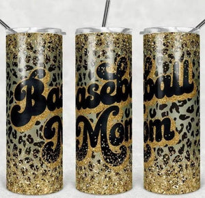 Baseball Mom Printed Tumbler - 20oz