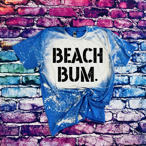 214 - BLACK Beach Bum Bum Screen Print Transfer