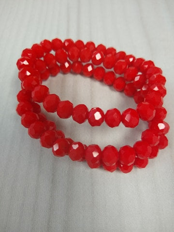 A110 Sparkle Stack Strand - Rudolph Red