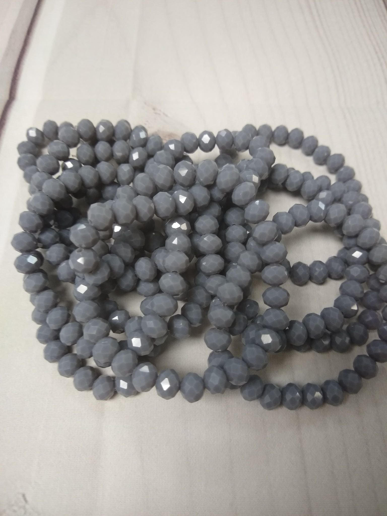 A122 Sparkle Stack Strand - Gravel Gray