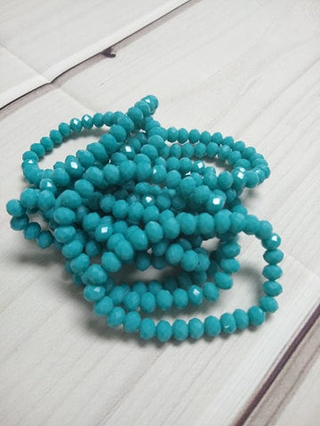 A144 Sparkle Stack Strand - Turquoise