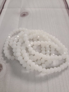 B109 Sparkle Stack Strand - Rock Salt White