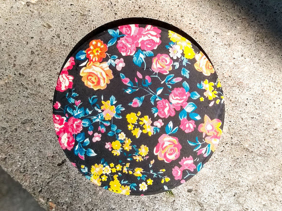 Floral Fanatic Stone Car Coaster Set of Two