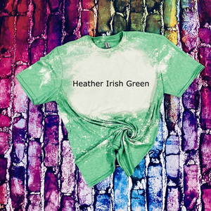 Heather Irish Green Bleached Blank - Gildan RTS