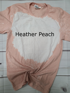Heather Peach Bleached Blank - Bella - RTS