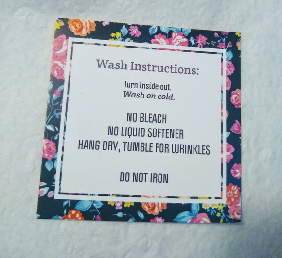 Black Floral Wash Cards - 10 Pack