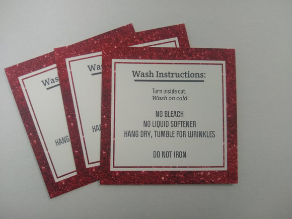 Red Glitter Wash Cards - 10 Pack