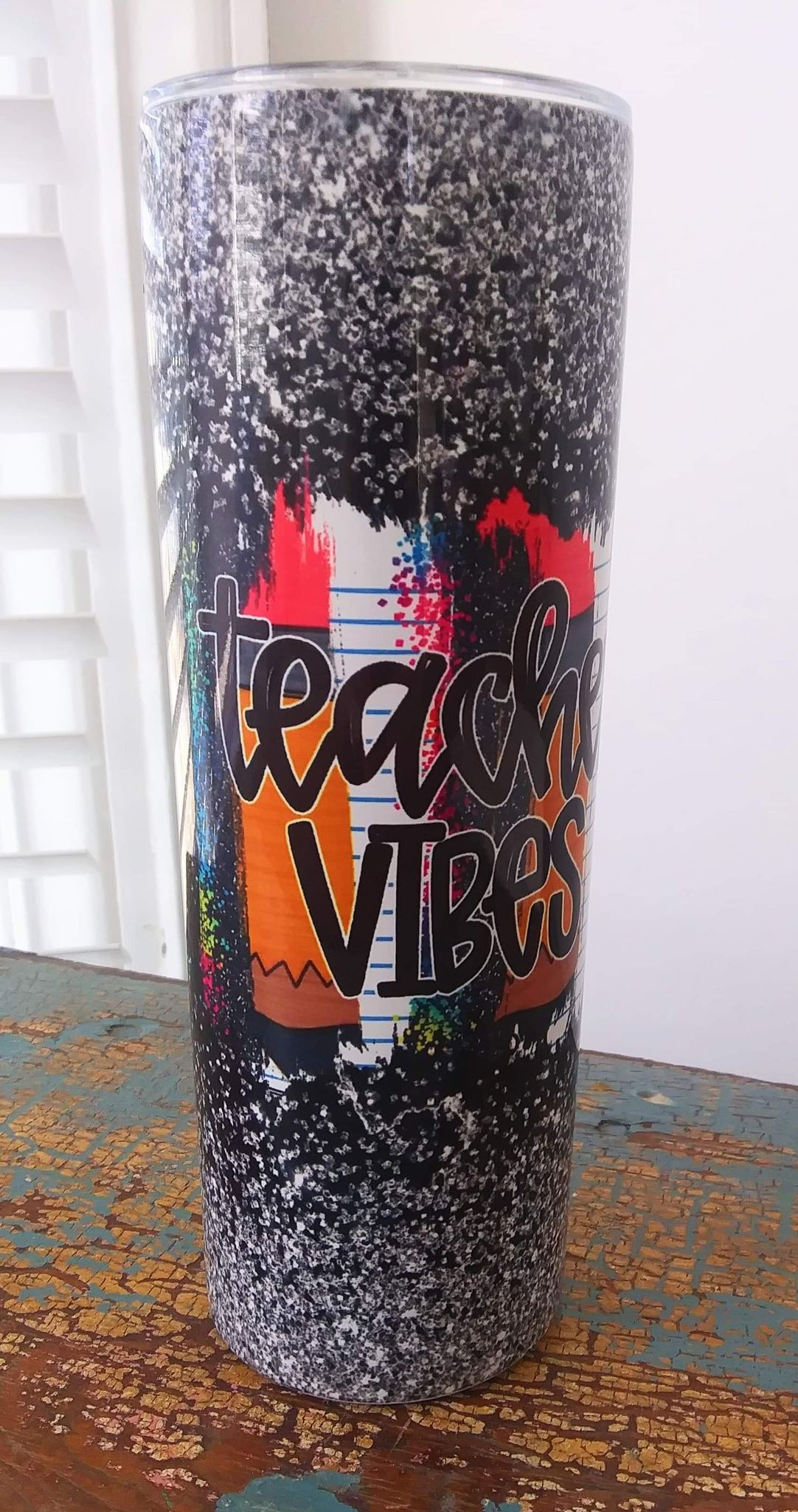 Teacher Vibes Printed Tumbler - 20oz