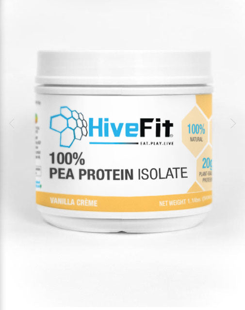 HiveFit Vanilla Creme Plant-Based 100% Pea Protein Isolate (1.1lbs) - 20 servings