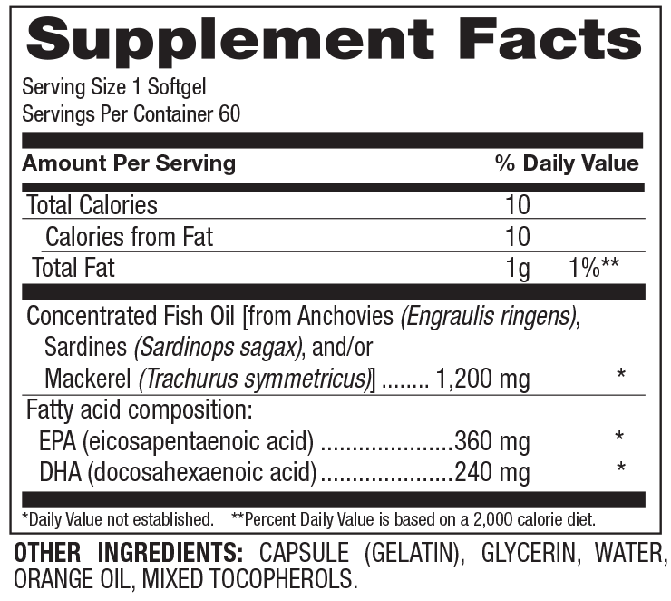 HiveFit Concentrated Omega-3 EPA/DHA - 60ct softgels