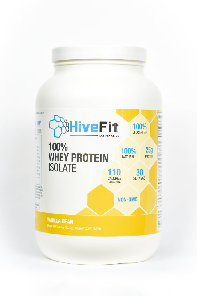 HiveFit Vanilla Bean 100% Whey Protein Isolate (2.24lbs) - 30 servings