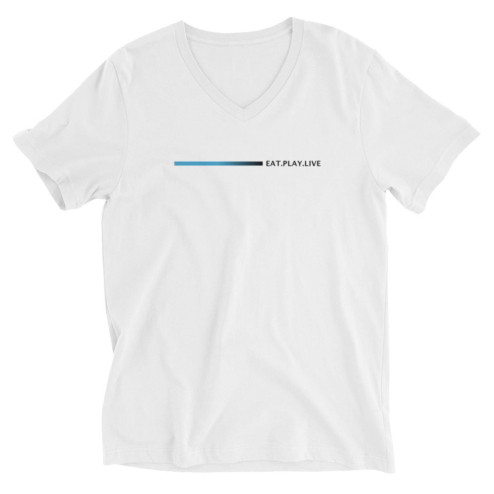 Unisex Short Sleeve V-Neck T-Shirt - White