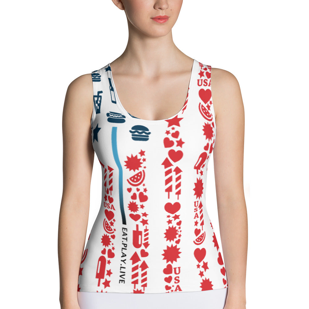MERICA Sublimation Cut & Sew Tank Top