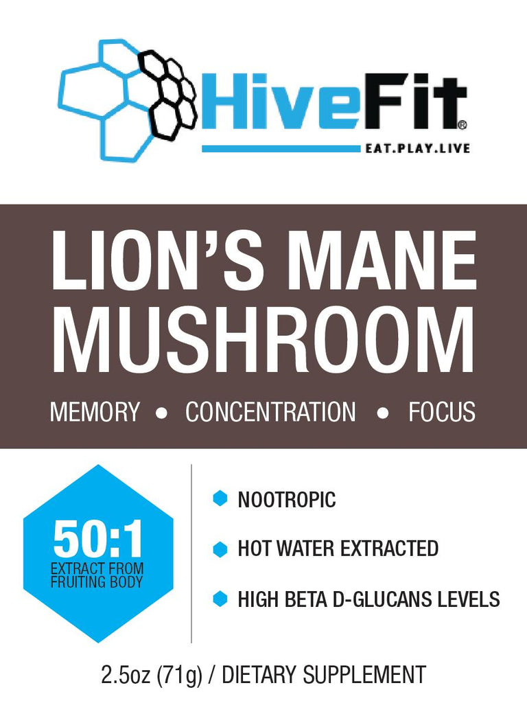 Lion's Mane Mushroom (Hericium Erinaceus) 50:1 extract powder - 2.5oz Nootropic