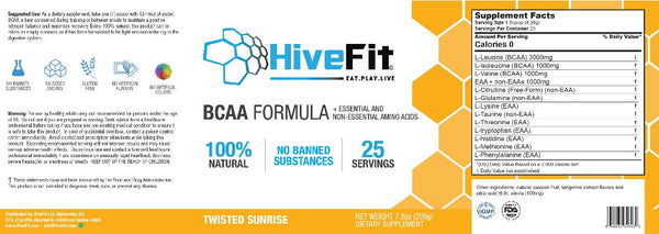 HiveFit BCAA Formula - Twisted Sunrise (0.46lbs) - 25 servings