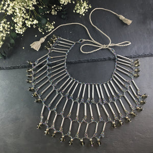 PJ310 SILVER NET PAPER NECKLACE