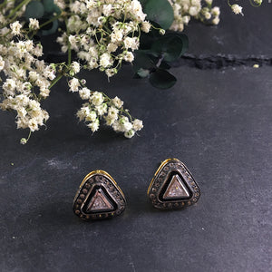 PP1707BE TRIANGLE CZ STUD EARRINGS