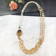 TD513 CONTEMPORARY GANTHAN BROWN STONE NECKLACE