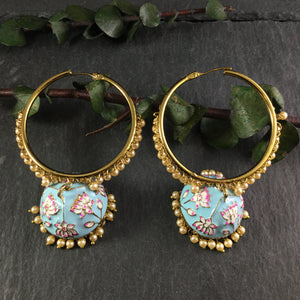 PP3234 EARRINGS MEENA HOOPS
