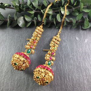 SG2075E EARRING FULL BALL TEMPLE