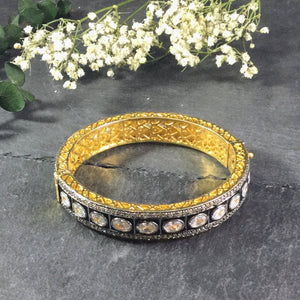 OP100A Clear Crystal Stone Bangle Bracelet