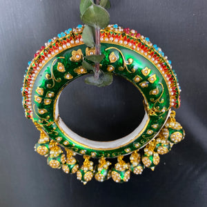 PP4109 BRACELET BIG RED AND GREEN MEENA KADA