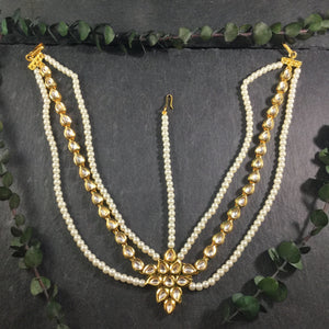PP4094 MATHAPATI MULTILAYER PEARL AND KUNDAN