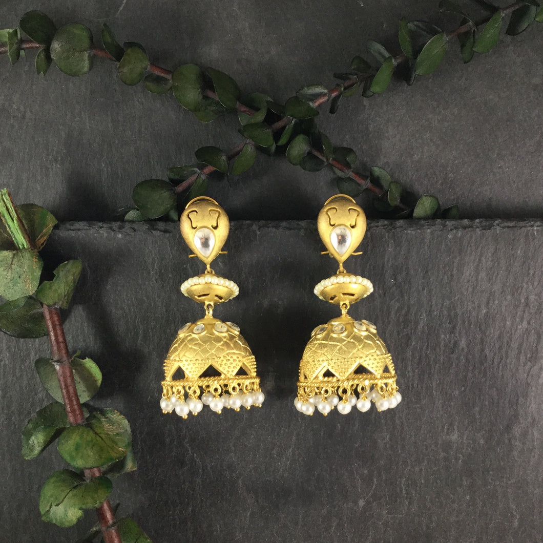SG2064E EARRING JUMKY DULL GOLD