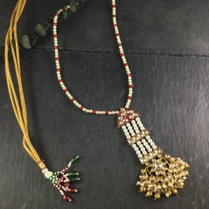NS5 Gold Red Pearl Pendant