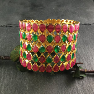 PP3886 BRACELET CHANTELLE RED AND GREEN FLEXIBLE