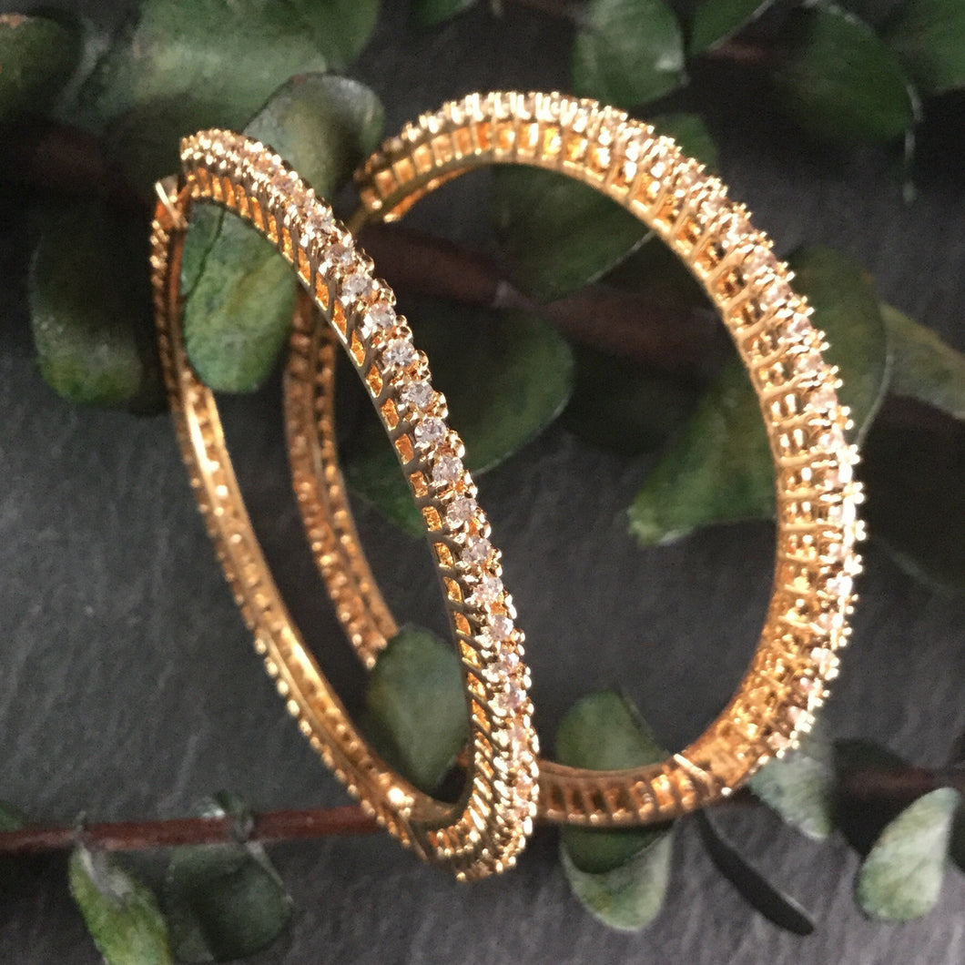 GA114 DIAMOND HOOPS ROSE GOLD PLATED