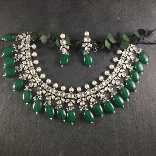 SG2637 GLAMOUR GREEN OXIDISED SET