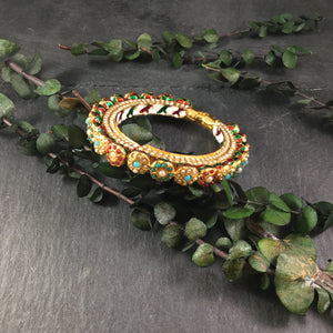 TD1087 KUNDAN BANGLE NAVRATAN