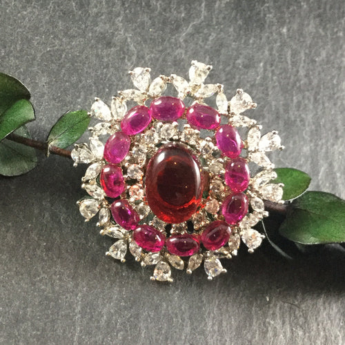 GA219 RING COCKTAIL STATEMENT RUBY