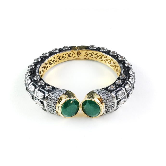 PP2077BB EMERALD GREEN TIGER BRACELET