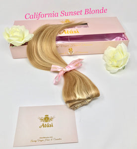 Atási beach blonde clip in hair extensions