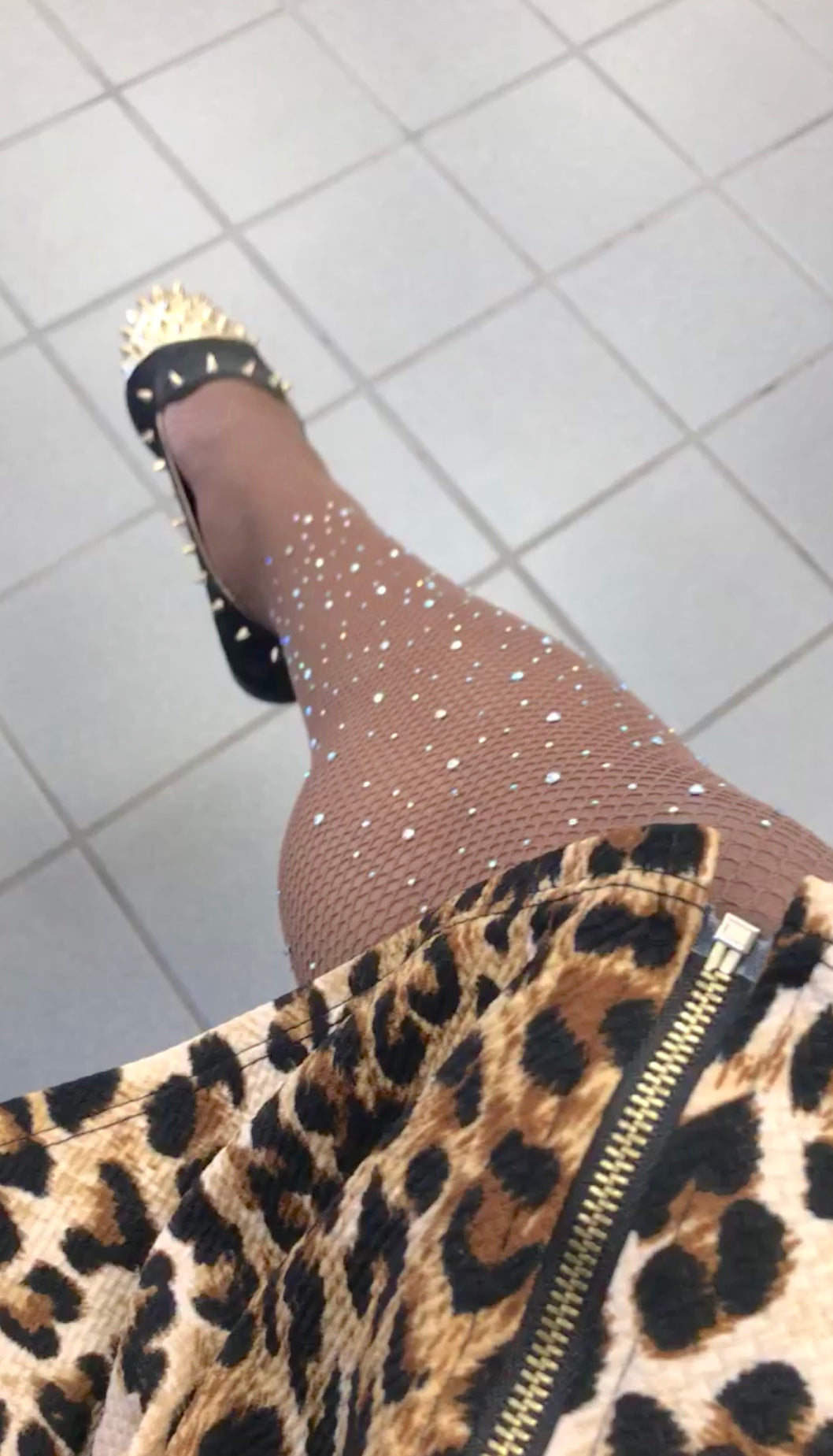 $6 | Rhinestone Fishnet Stocking | Diamond Tights