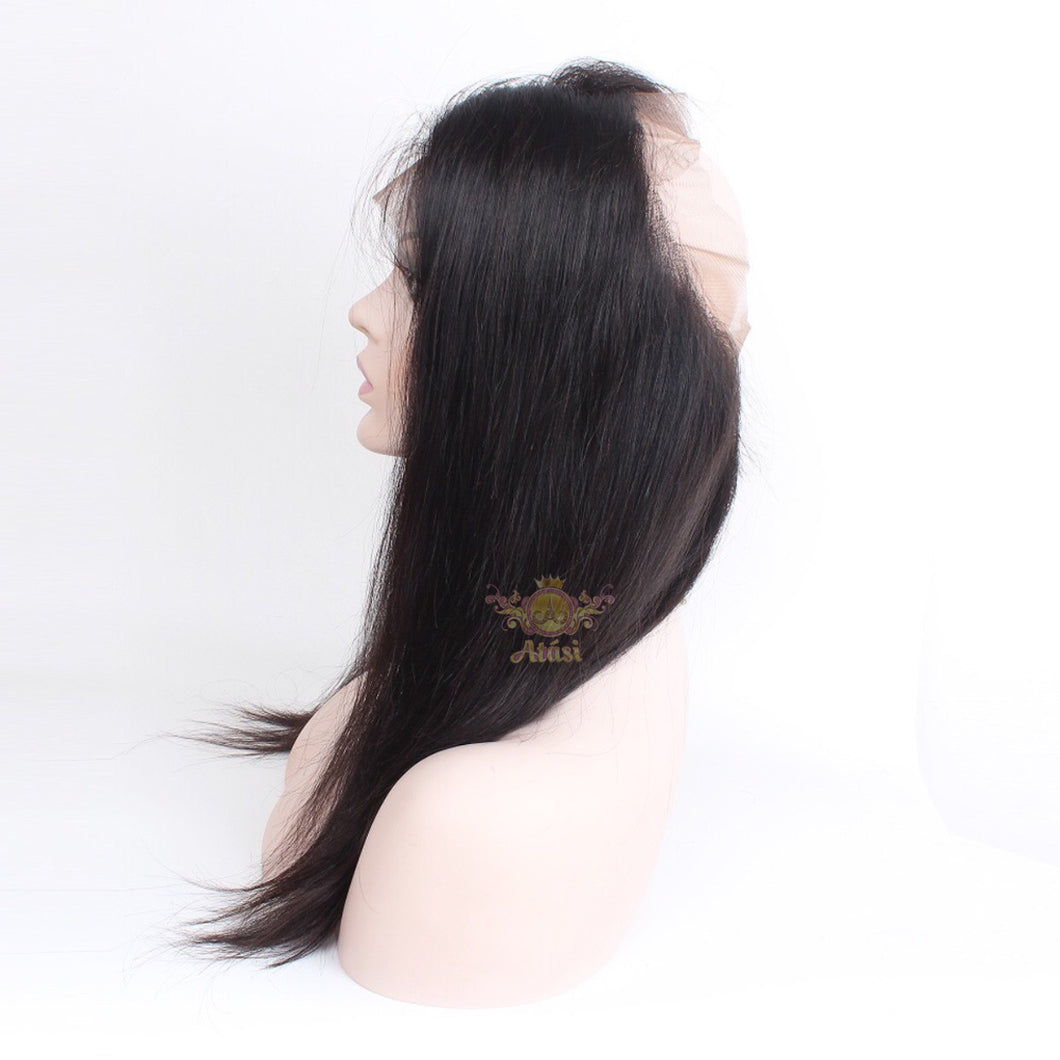"$40+ | 100% Virgin Human hair Straight 360 lace closure 8-24"" avail"