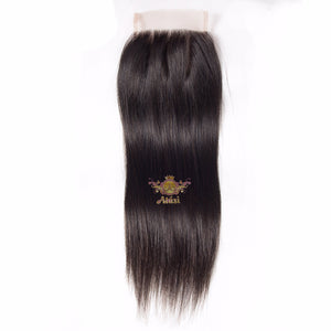 "Atási 100% Virgin Human hair 4x4 lace Closure 8-24"" inches avail"