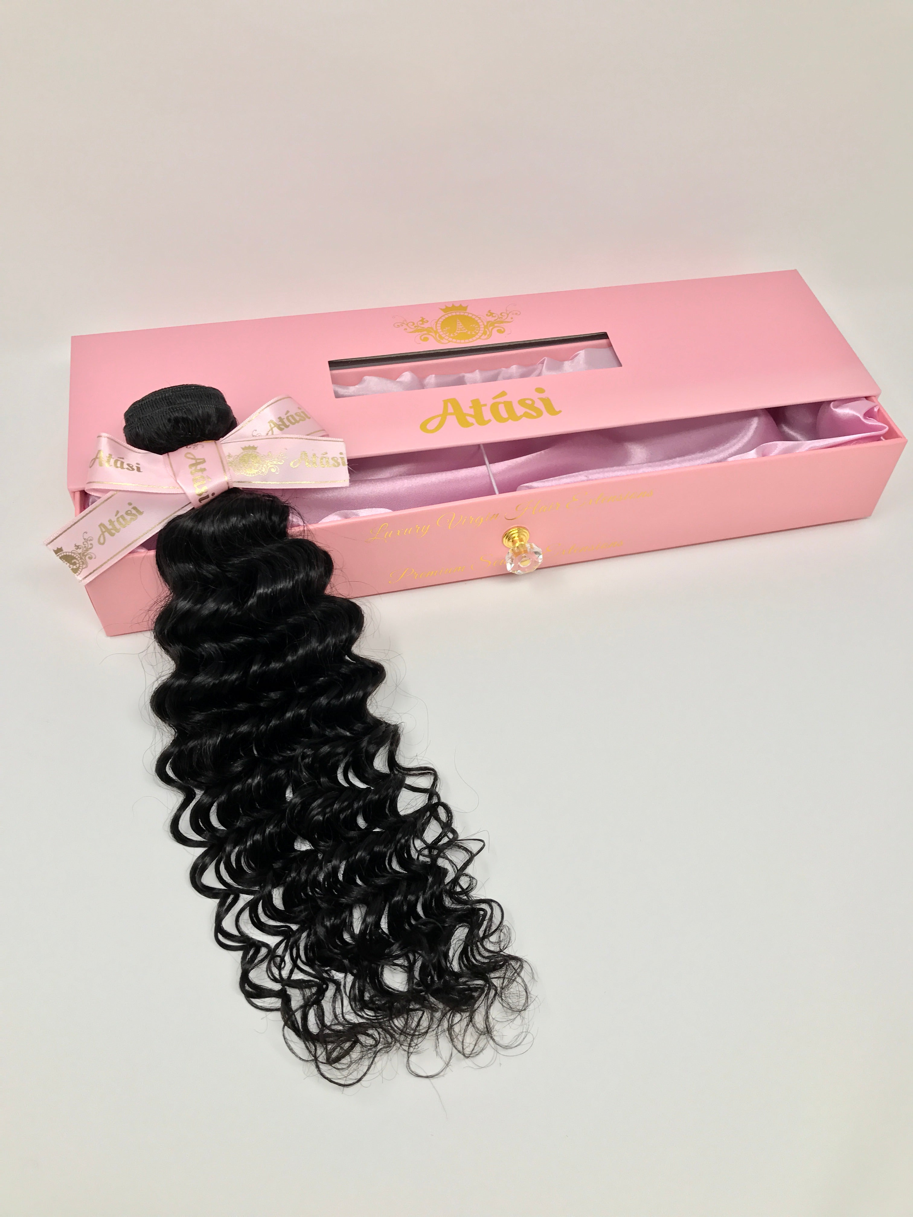$18+ | 100% Unprocessed Virgin Human Hair | 10A Curly deep wave Bundles