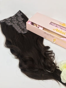 $125+ | 100% Remy Human Hair- 13pc Clip in Human hair extensions ❌Shed
